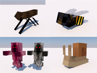 Snail, Bee, Fly, Wraith Minecraft rigs