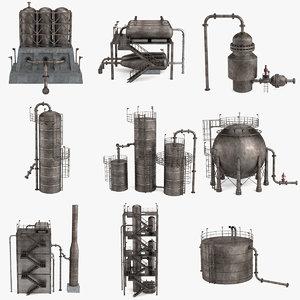 3d model refinery units blending