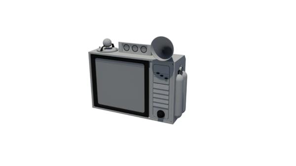 tv retro interior 3d model