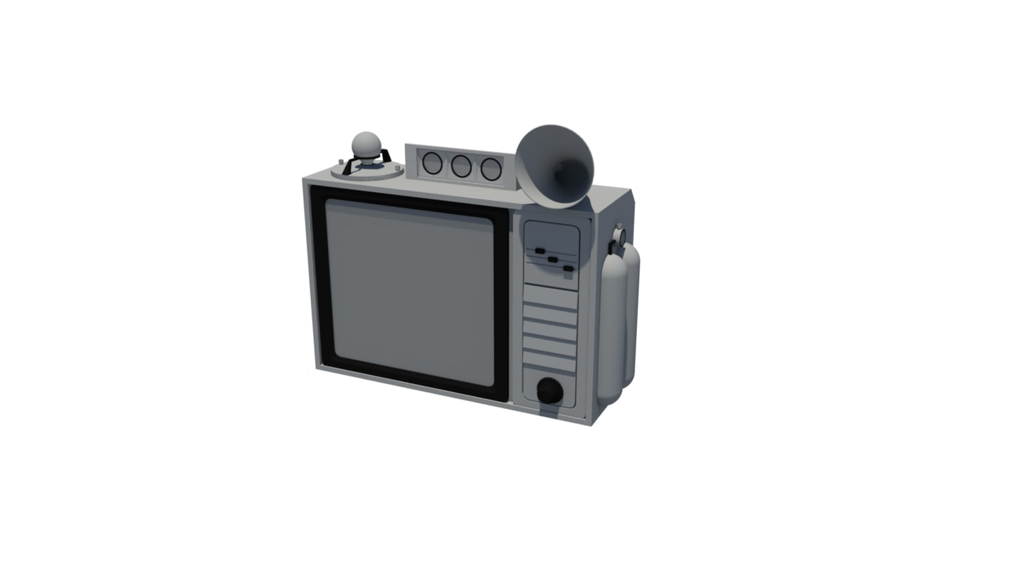 tv retro interior 3d model