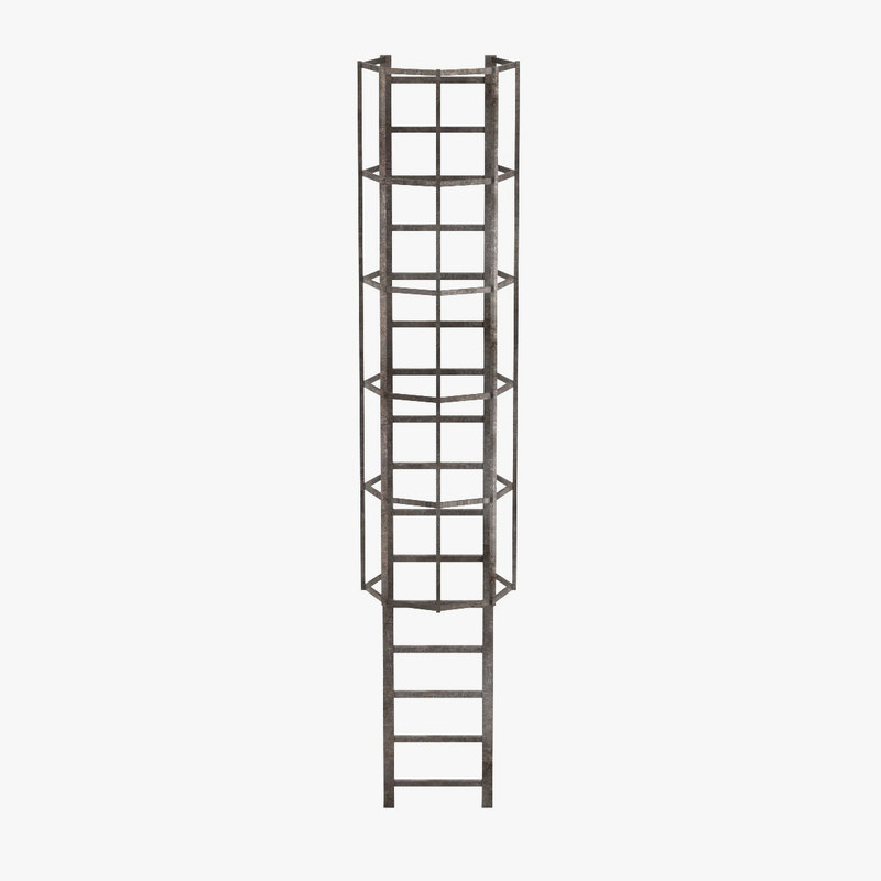 3d model industrial ladder