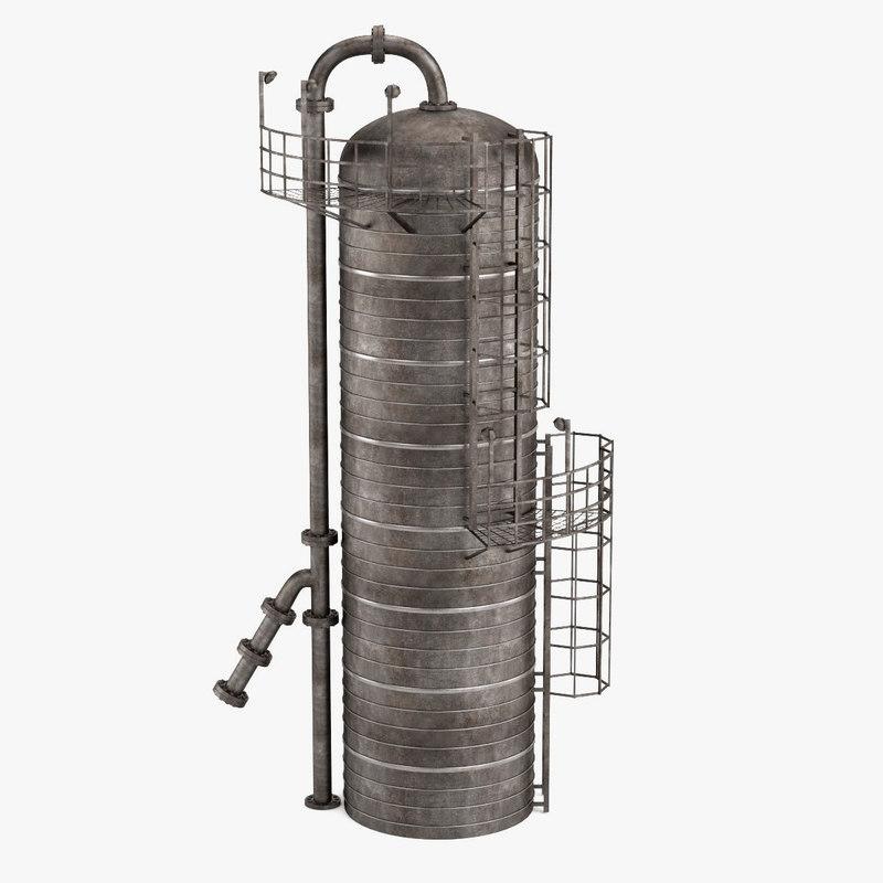 distillation column 3d model