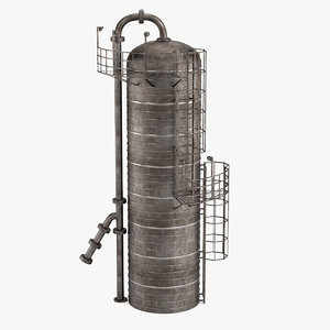 distillation column 3d model