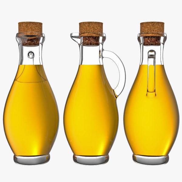olive oil bottle 3d max