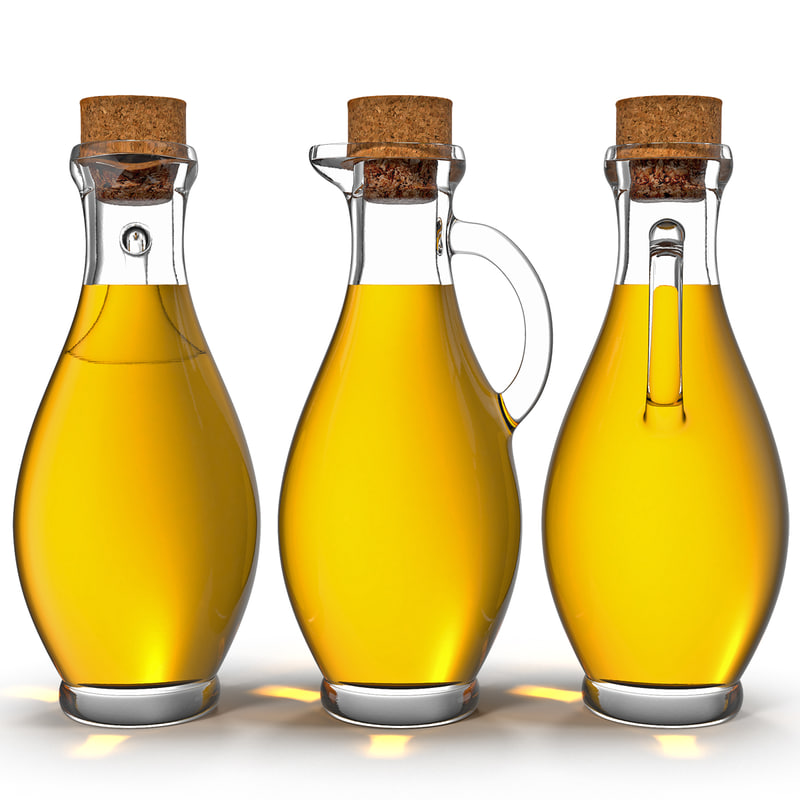 olive oil bottle 3d max
