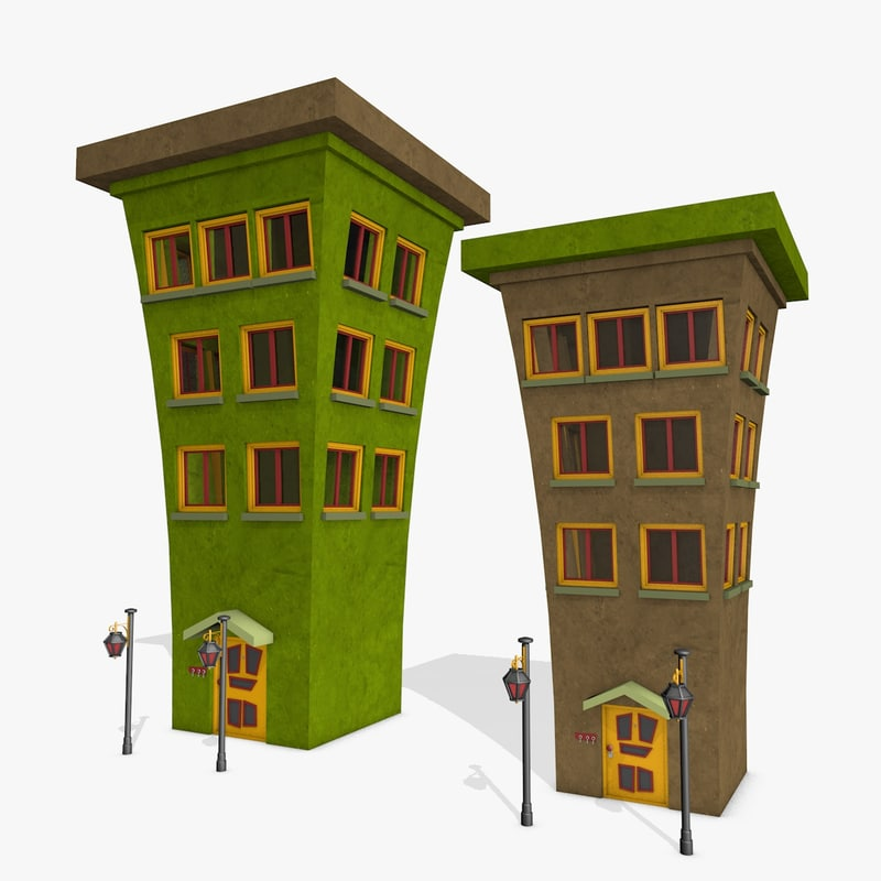 3d cartoon buildings 3d house builder online