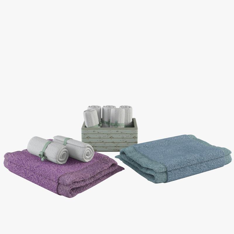 3d model towel