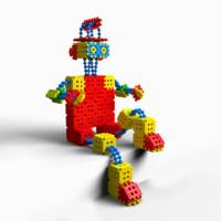 3d waffle blocks model