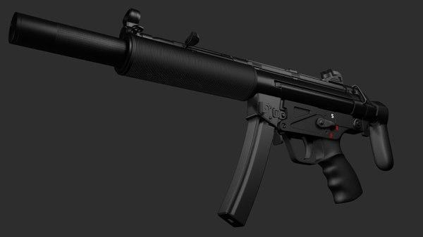 3d model h k mp5