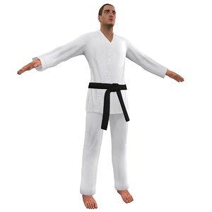 3d karate martial artist 3