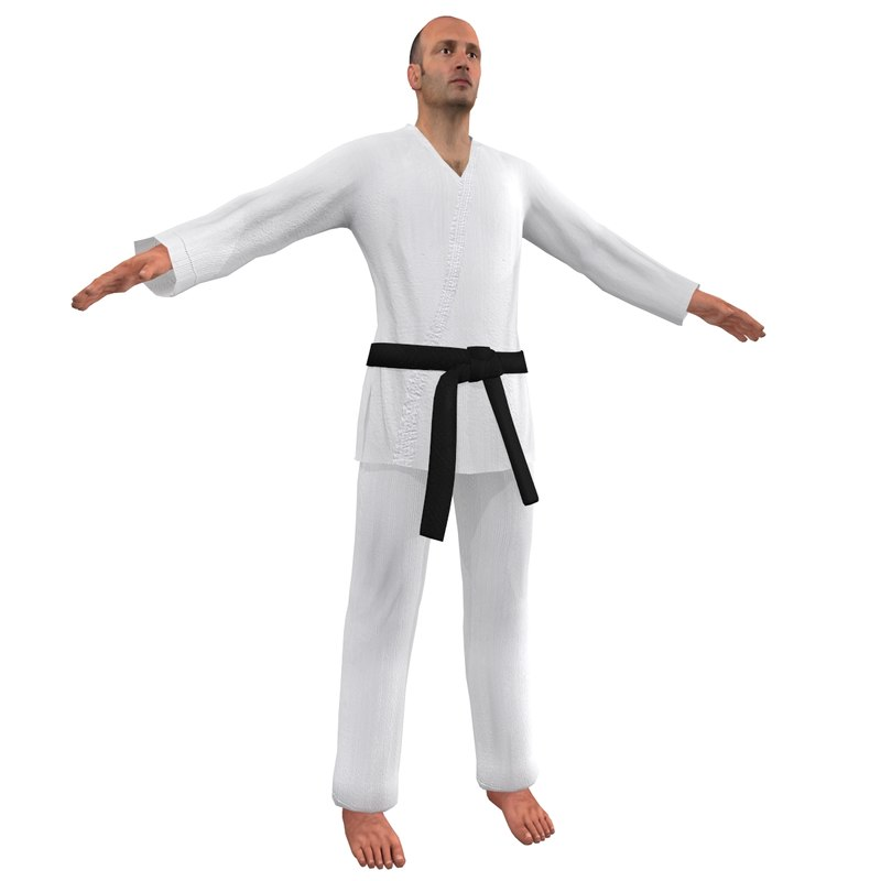 karate martial artist 3d max