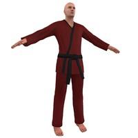 karate martial artist 3d model