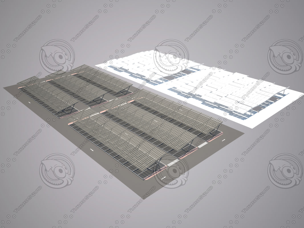 3ds max car parking solar