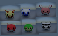 cute animal characters 3d x