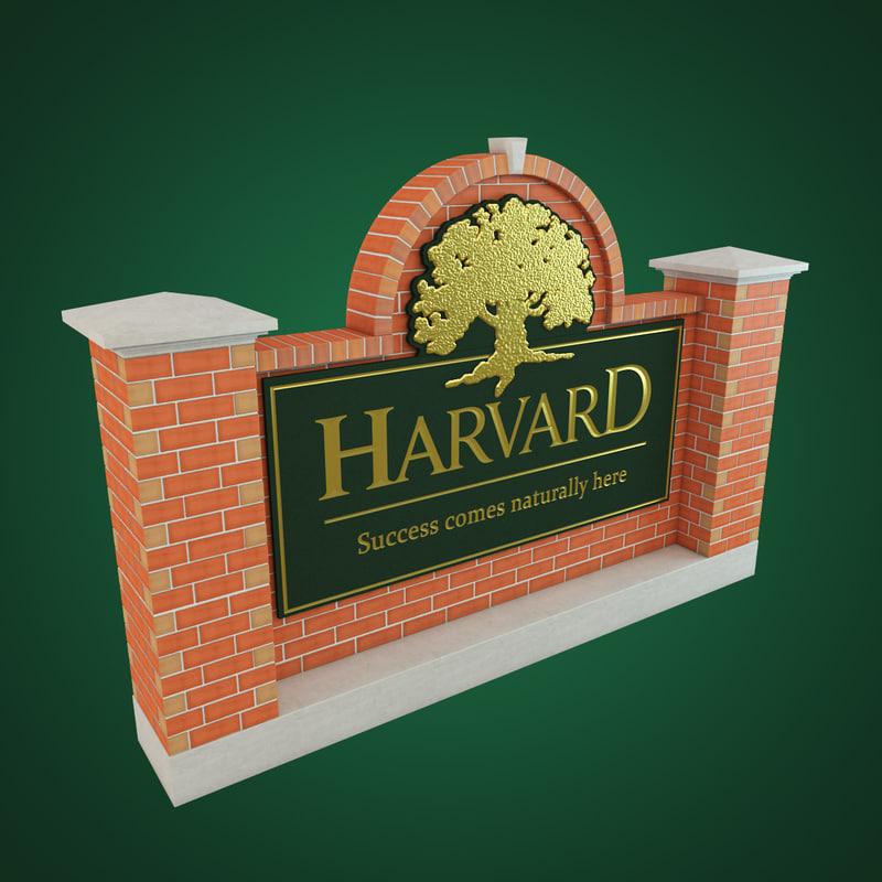 obj harvard sign