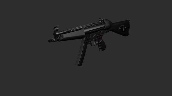 mp5a2 gun 3d max