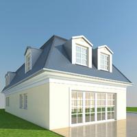 3d model villa french cottage