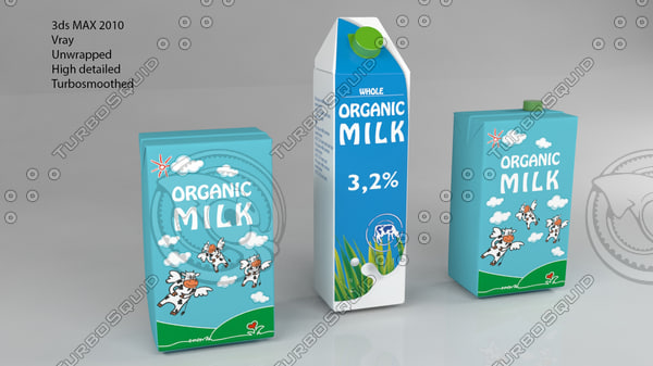 carton pack milk juice 3d model