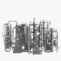 oil refinery 3d model