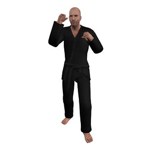 3d max rigged martial artist