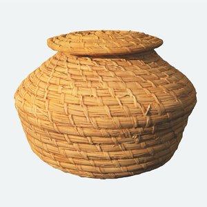 maya african weaved basket