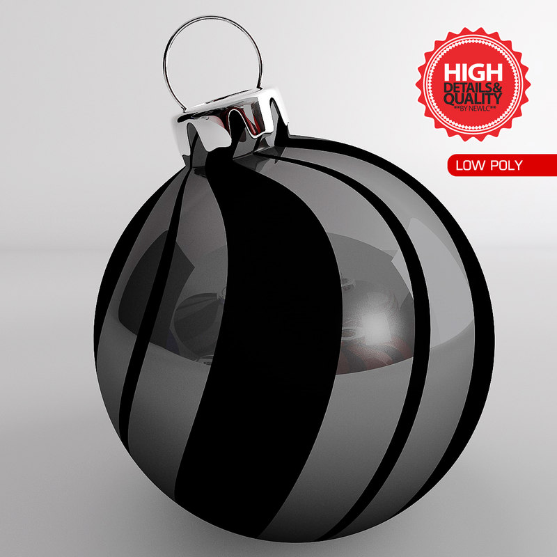 3d model ball ornaments