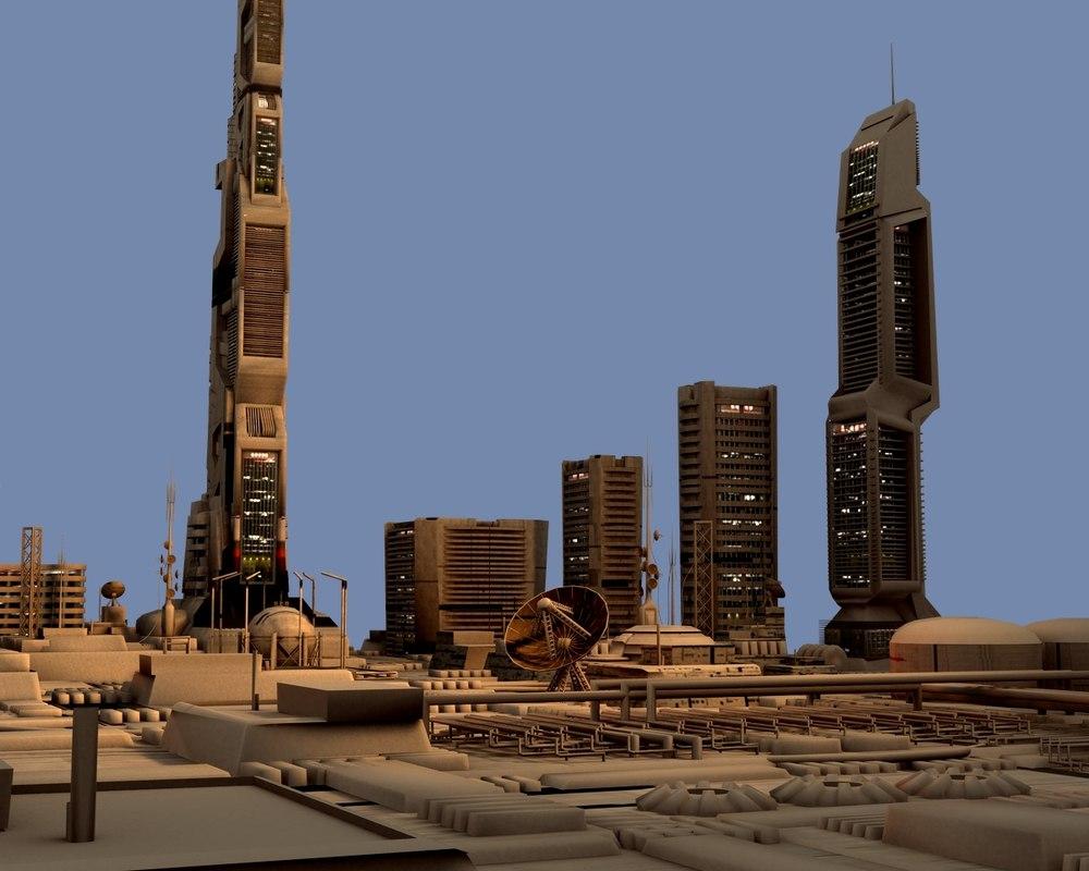 3d model scifi city