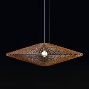 halo disc pendant lamp 3d 3ds