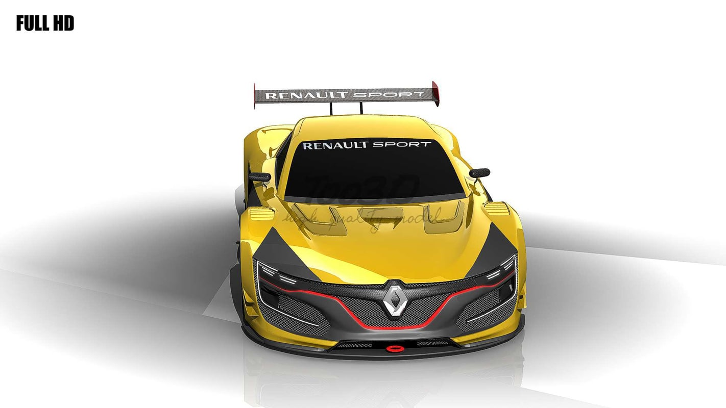 renault rs01 race 3d model