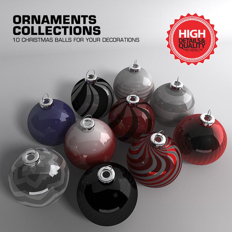 cinema4d ornaments christmas decorations ball
