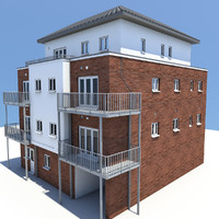 3d model of 4 story building