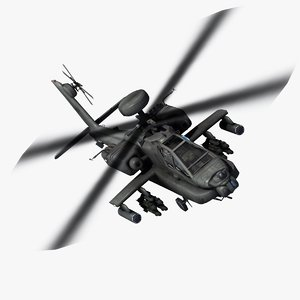 3dsmax ah64d apache attack helicopter