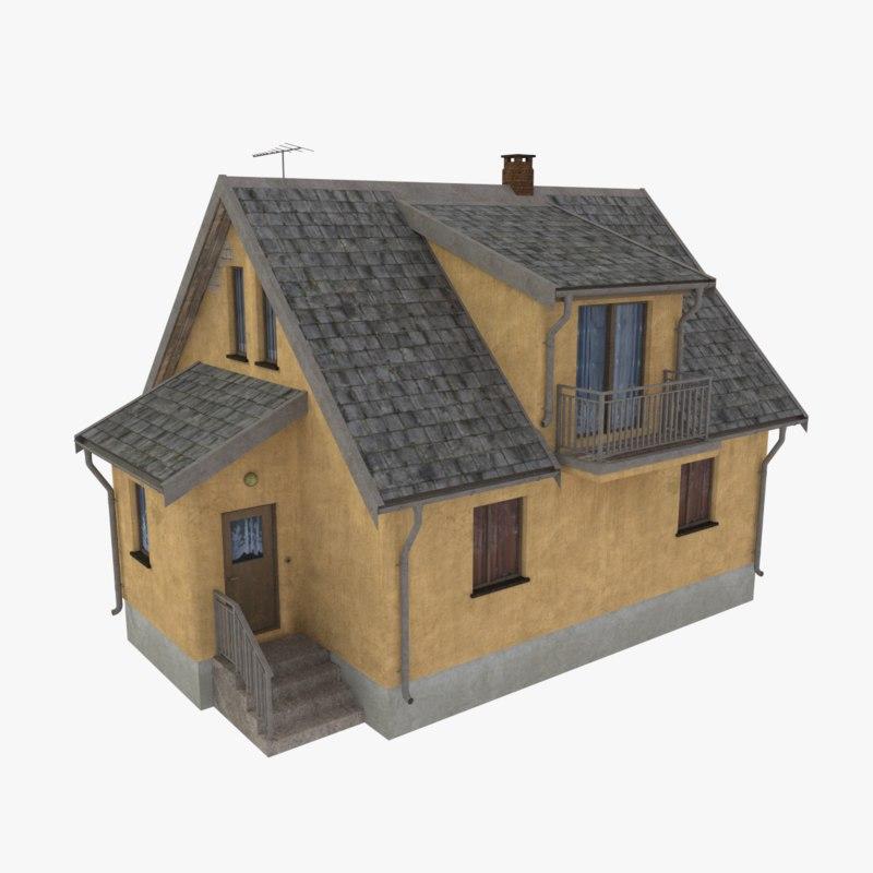 storey home scale 3d obj