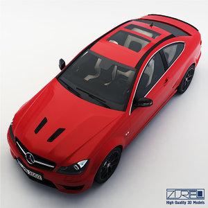 mercedes-benz c63 amg edition 3d model