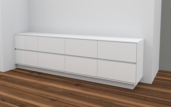 3d model credenza cabinet