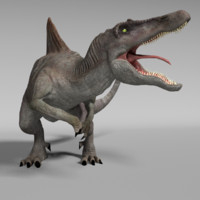 3d model spinosaurus rigged