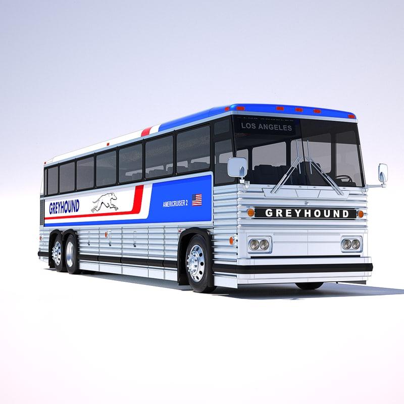 mci-9 greyhound bus 3d 3ds