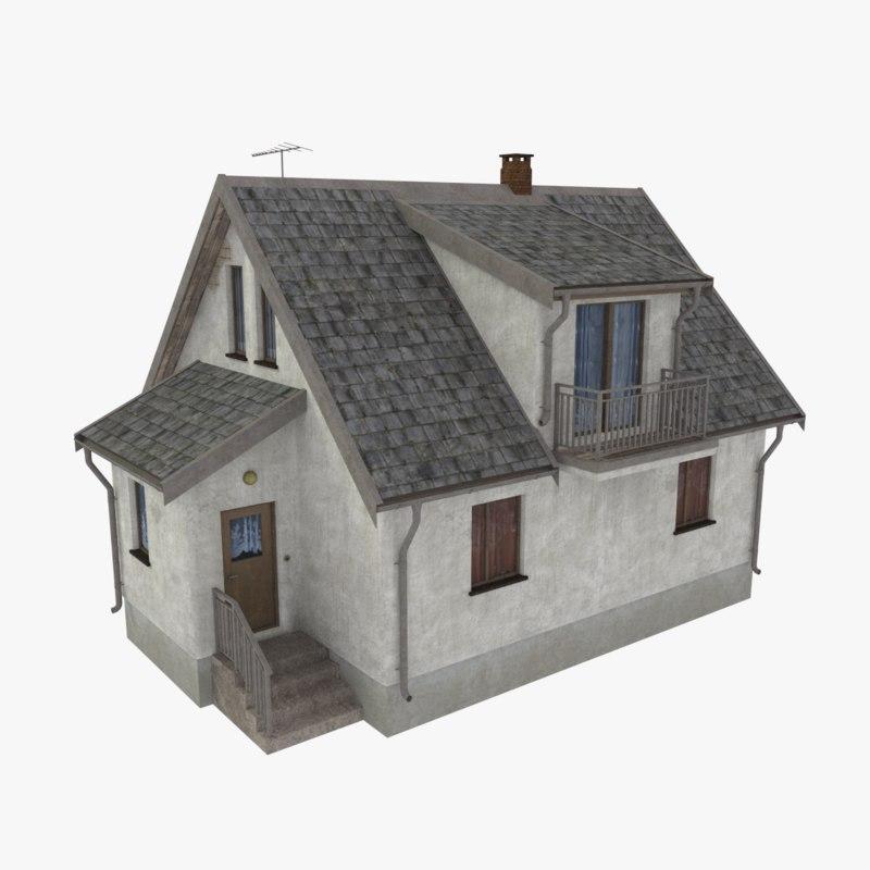 3d obj storey home scale