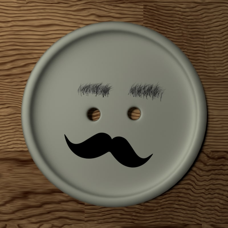 3d model clothing button hipster