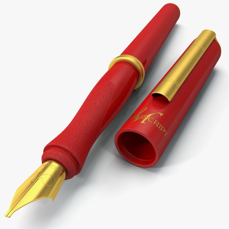 obj calligraphy pen