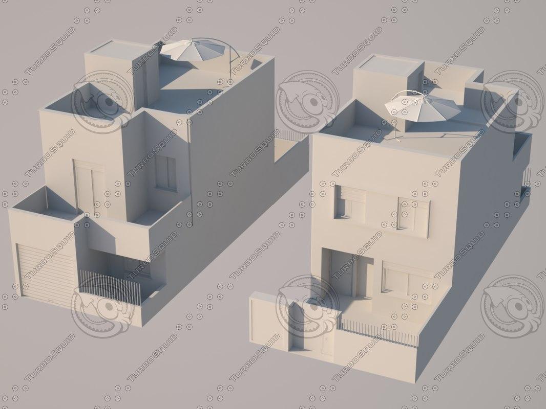 3d houses single family model