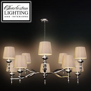 3d charleston lighting interiors chandelier model