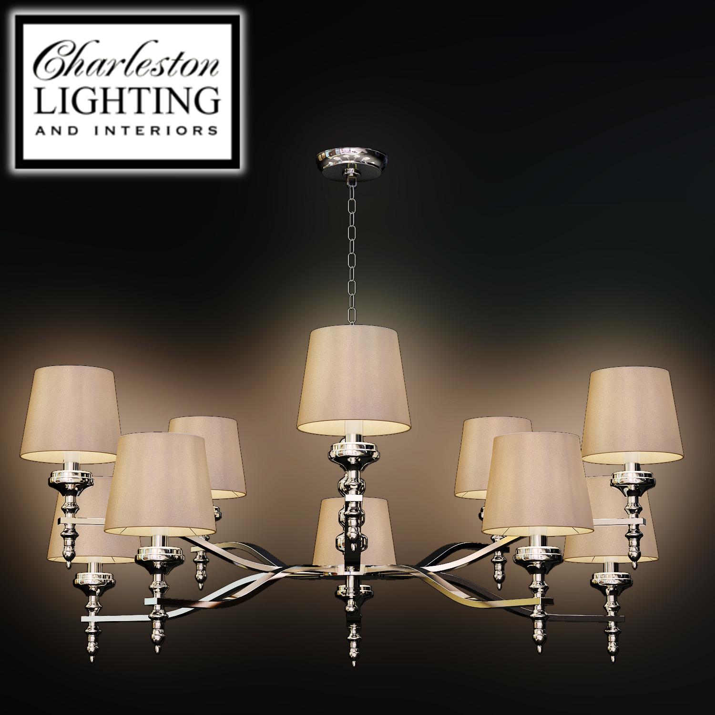 Charleston Lighting And Interiors Ten Light Chandelier 019945