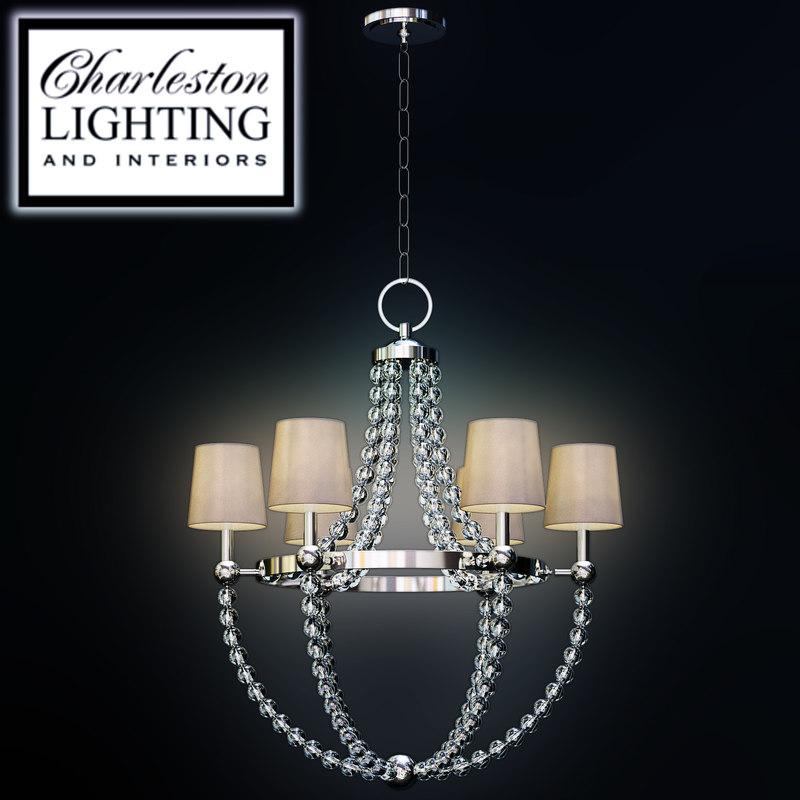 Charleston Lighting Interiors Chandelier 3d Max
