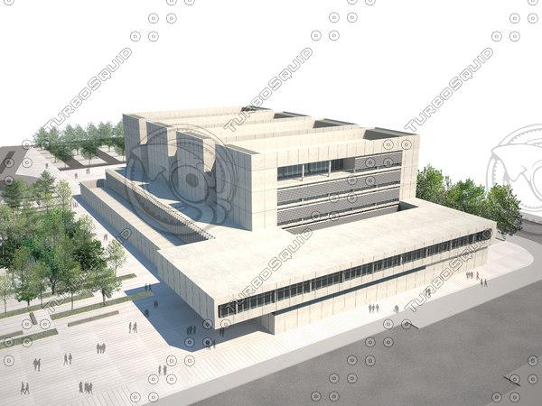 modern building 3ds