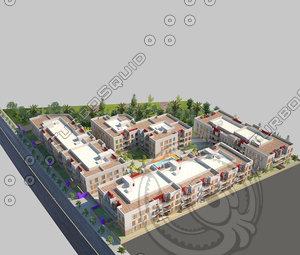 modern building apartment block max