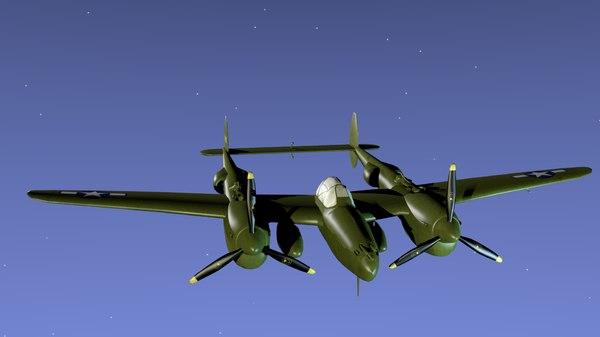 3d p-38 lightning model