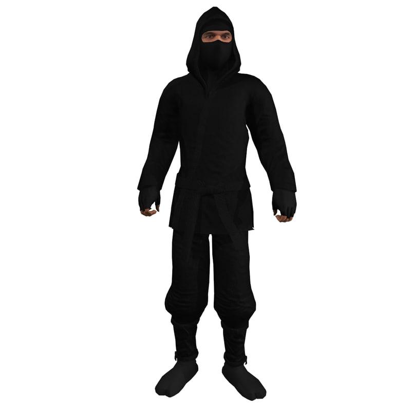 3d rigged ninja 1