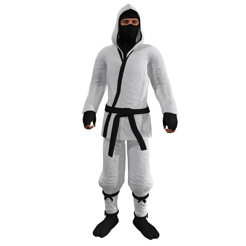 3d max rigged ninja 6