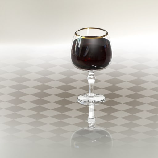 3d solidworks glass wine model